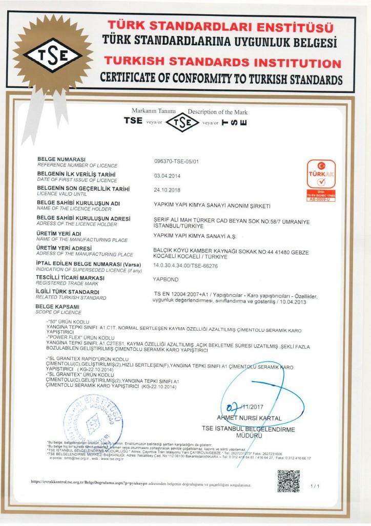 TS EN 12004-1