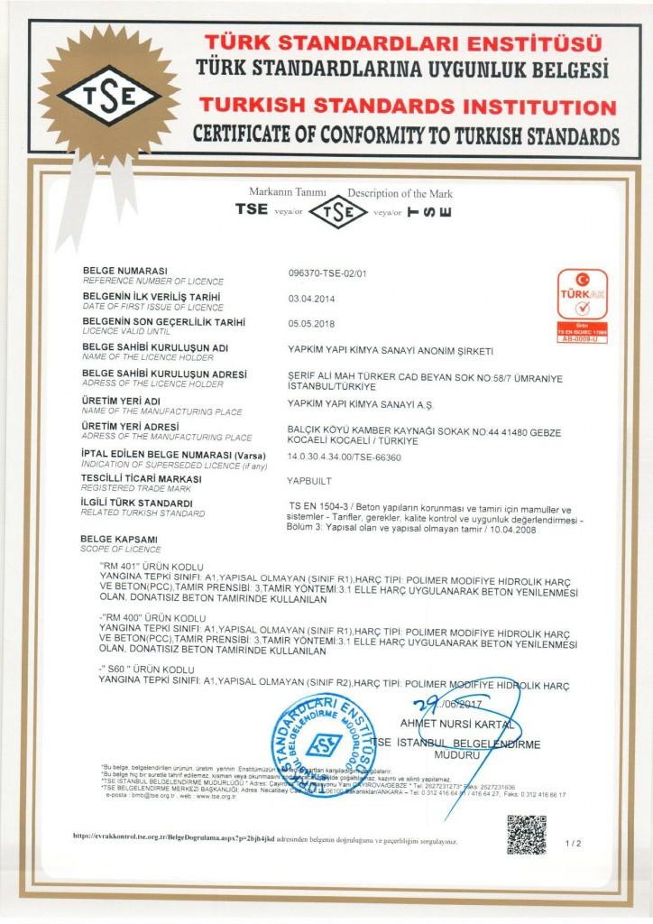 TS EN 1504-3-1